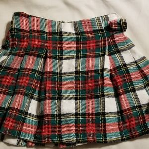 Carter's pleated flannel skirt